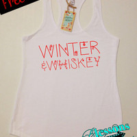 WiNTeR and WHiSKeY. Christmas Tank Top. Funny Christmas Tank. Christmas Shirt. Workout Tank. Holiday. Xmas. Fitness Tank. Free Shipping USA