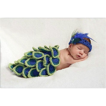 Newborn Photography Prop -  The Peacock