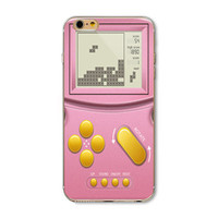 Ultra Thin Tetris Gameboy Painted Vivid Pattern Soft TPU Cover Case For Apple iPhone 4 4s 5 5s SE 5c 6 6s 6 Plus 6s Plus