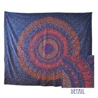 Traditional Floral Tapestry -- Mexicali Blues