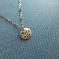 I Can and Will hand stamped metal necklace saying, aa, recovery, strength, strong, recovery, teen girls, graduation gift,  jewelry, fitness