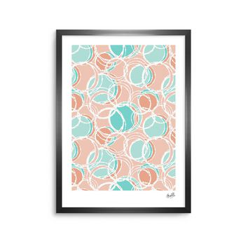 "Julia Grifol ""Sweet Circles"" White Pastel Digital Framed Art Print"