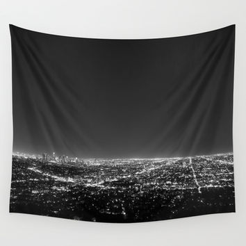 LA LIGHTS Wall Tapestry by Brian Biles