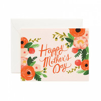 Floral Pink Happy Mother's Day Card