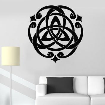 Vinyl Wall Decal Irish Celtic Cross Talisman Ornament Stickers Unique Gift (710ig)