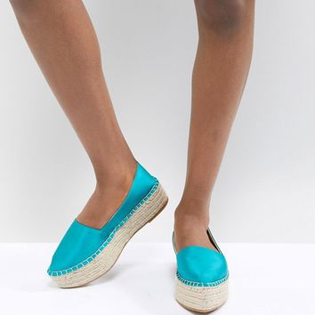 ASOS DESIGN Joyous Pointed Flatform Espadrilles at asos.com