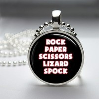 Big Bang Theory Funny Glass Tile Bezel Round Pendant Necklace