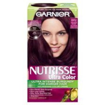 Garnier Nutrisse Ultra Color Nourishing Color Creme Permanent Hair Color, BR2 Dark Intense Burgundy - CVS pharmacy