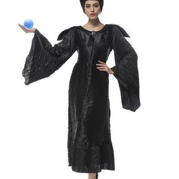 Sleeping curse costumes Adlut Maleficent Cosplay halloween Costumes female witch cosplay