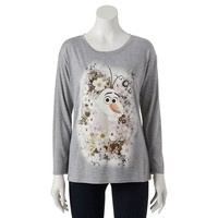 Disney Frozen Floral Olaf Tee - Juniors