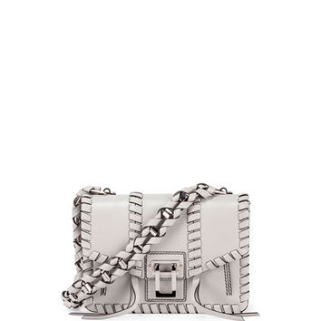 Proenza Schouler Hava Whipstitch Leather Chain Shoulder Bag, Gray