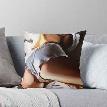 'Now thats some hot pants' Throw Pillow by cartoonsex