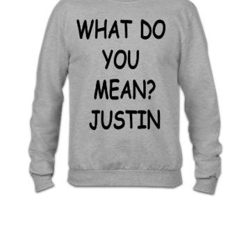 Justin Bieber What Do You Mean - Crewneck Sweatshirt