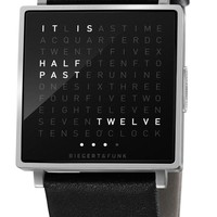 Qlocktwo W Brushed Steel | Free Worldwide Shipping from Watchismo.com