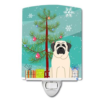 Merry Christmas Tree Mastiff White Ceramic Night Light BB4142CNL
