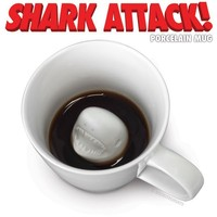 Shark Attack Porcelain Mug - Whimsical & Unique Gift Ideas for the Coolest Gift Givers