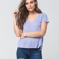 FULL TILT Netted Knit Womens Tee | Knit Tops + Tees