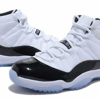 2017 Retro 11 Midnight Navy White University Blue Men Basketball Shoes High Cut 11S XI Athletic Trainers Cheap Retro Sneakers