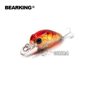 Bearking 2017 perfect professional A+ fishing lures,8color for choose mini crank  35mm 3.5g  suspending dive 1m minnow hard bait