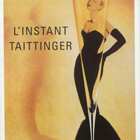 Grace Kelly L'Instant Taittinger Champagne Poster 24x36
