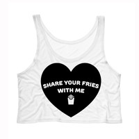 Share Your Fries With Me Tank Top Crop