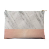 Pale Pink on Marble Pouch