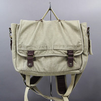 A. Kurtz CANVAS MESSENGER BAG