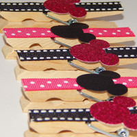 Minnie Mouse Magnets - Minnie Mouse Party Favors - Fish Extender Gift