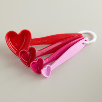 Hearts Melamine Measuring Spoons - World Market