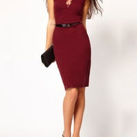 Lace Applique Sleeveless Bodycon Midi Dress