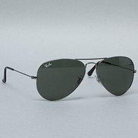 The 58mm Large Aviator Sunglasses in Gunmetal by Ray Ban | Karmaloop.com - Global Concrete Culture