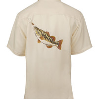 Men's Largemouth Bass Embroidered Fishing Shirt