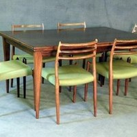 Niels O. Møller - 	    				Moller Dining Set in Rosewood					    	 by Niels O. Møller for Sale at Deconet