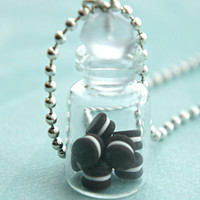Oreo Cookies in a Jar Necklace
