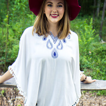 The Royals Poncho - Final Sale