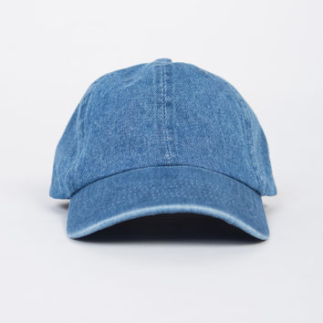 Adjustable Denim Baseball Cap