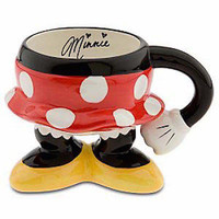 Disney Parks Body Parts Minnie Skirt Ceramic Coffee Mug New