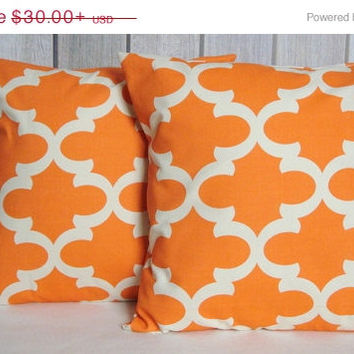 ON SALE Pillow Covers. Orange Pillows. Striped Pillows. Throw Pillows. Pillows. Modern Pillows. Home Decor