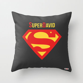 Personalized Superman throw pillow cover - Customized pillow - Nursery Decor - christmas gift ideas