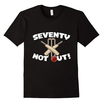 Seventy Not Out Cricket Birthday T-Shirt