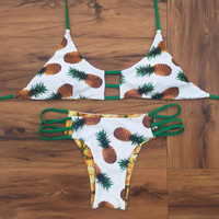 Fashion pineapple print Swimwear Bikini Swimsuit
