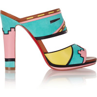 Christian Louboutin   Zunika 120 suede and leather mules   NET-A-PORTER.COM