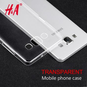 H&A Soft TPU Ultra Crystal Clear Silicone Case For Samsung J5 J7 Cases For Samsung Galaxy A5 A3 A7 J5 J7 2016 2017 Cover Bag