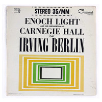 """Charles Murphy record album design, 1962. """"Enoch Light and His Orchestra at Carnegie Hall Play Irving Berlin"""" LP"""