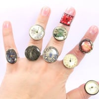 Steampunk Rings -- Vintage Clockwork Design -- Steampunk Jewelry, choose a ring for yourself, 1 of 10