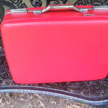 "Cherry Red American Tourister Tiara 20"" Suitcase"