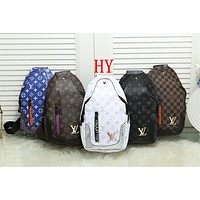 """Louis Vuitton"" Men Casual Briefcase Fashion Retro Classic Wide Strap Single Shoulder Messenger Bag"