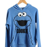 Blue Cookie Monster Hoodie | $10.50 | Cheap Trendy Hoodies Chic Discount Fashion for Women | ModDeal