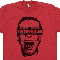 Talking Heads T Shirt American Psycho Killer 80s Vintage Rock Tees