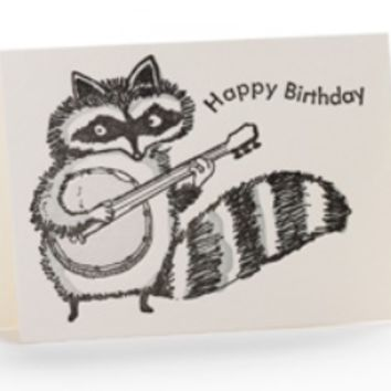Happy Birthday Raccoon Enclosure Card
